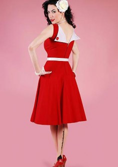 Rockabilly Kleid Jazmin Circle Red