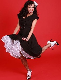 Rockabilly Kleid Secretary Circle black
