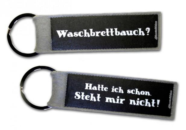 Schlüsselanhänger Taschenanhänger Waschbrettbauch